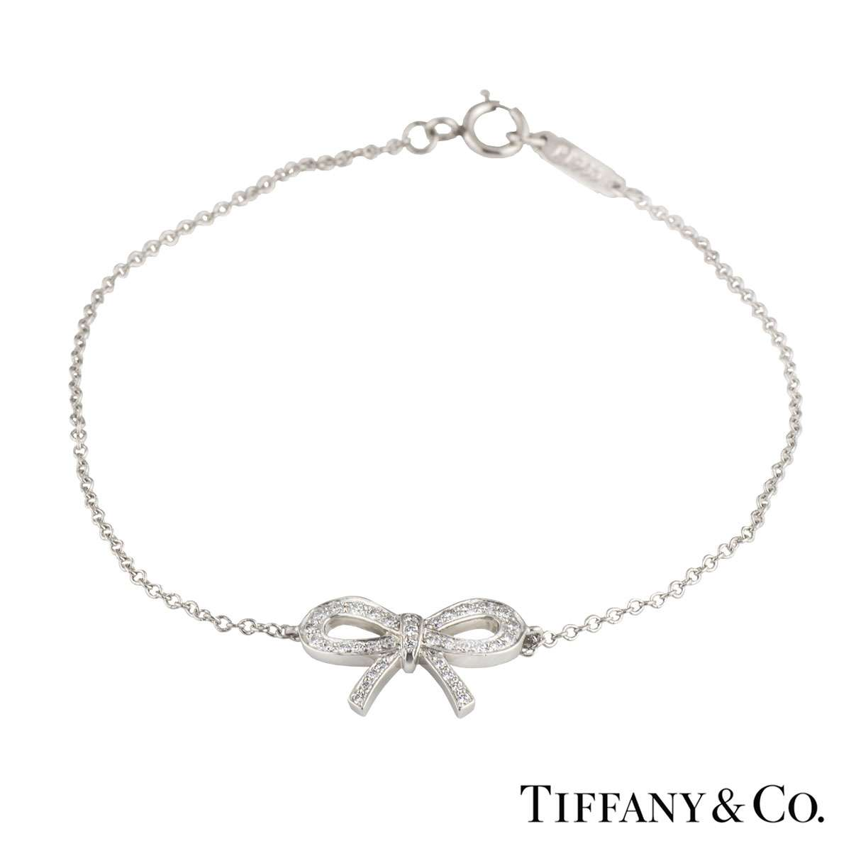 Tiffany & Co. Platinum and Diamond Bow Bracelet